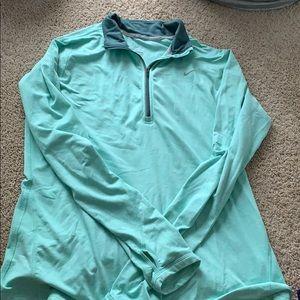 Turquoise Nike Long-Sleeve Women's Workout Gear